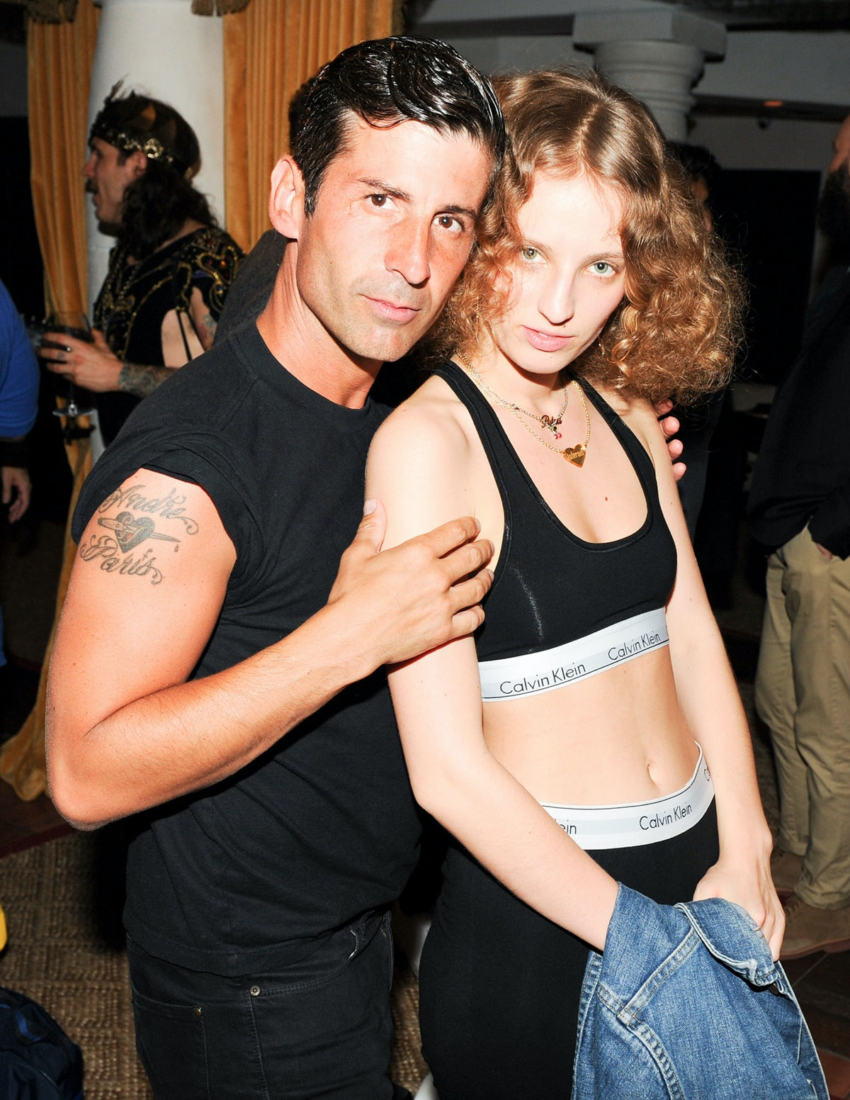 Andre Saraiva and Petra Collins attend NeueHouse's TV party