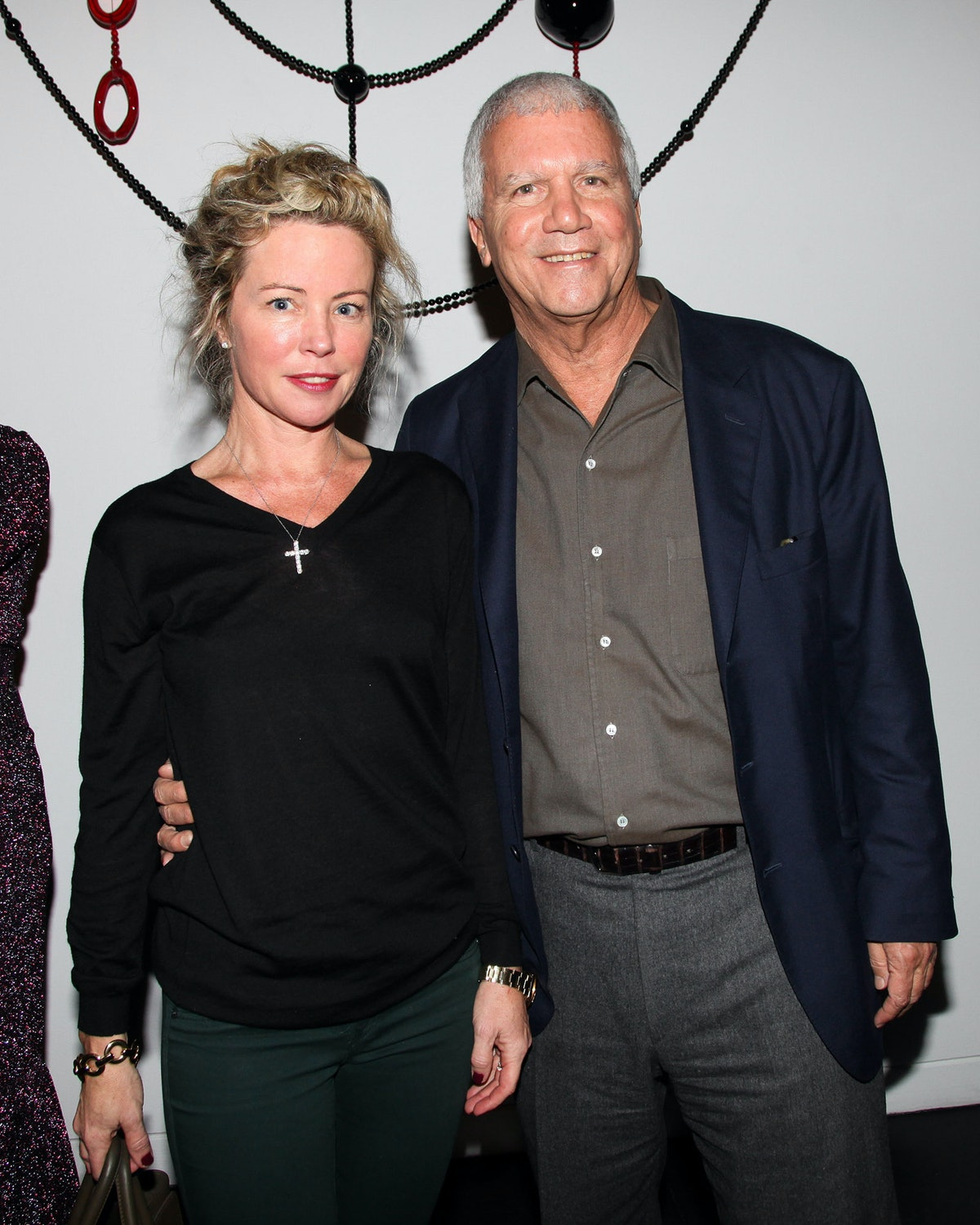 Chrissie Erph and Larry Gagosian celebrate Peter Marino's exhibition at the Bass Museum of Art