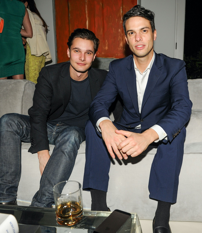 Dorian Grinspan and Simon Castecs attend Maria Baibakova's housewarming and supper party