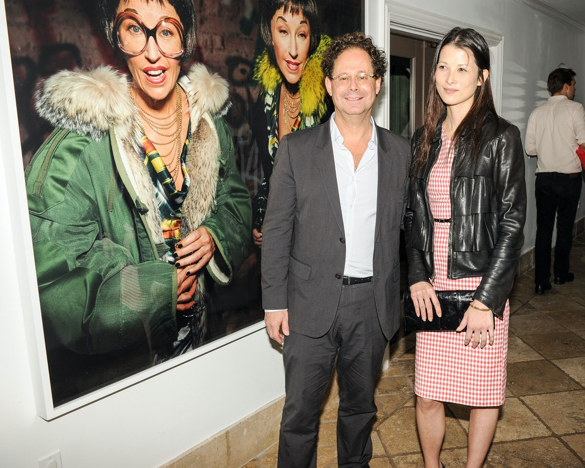 Adam Weinberg and guest attend Maria Baibakova's housewarming and supper party