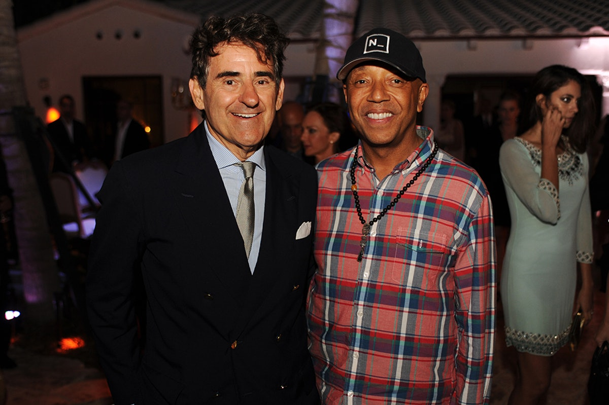 Peter Brant and Russell Simmons attend the Dom Perignon party