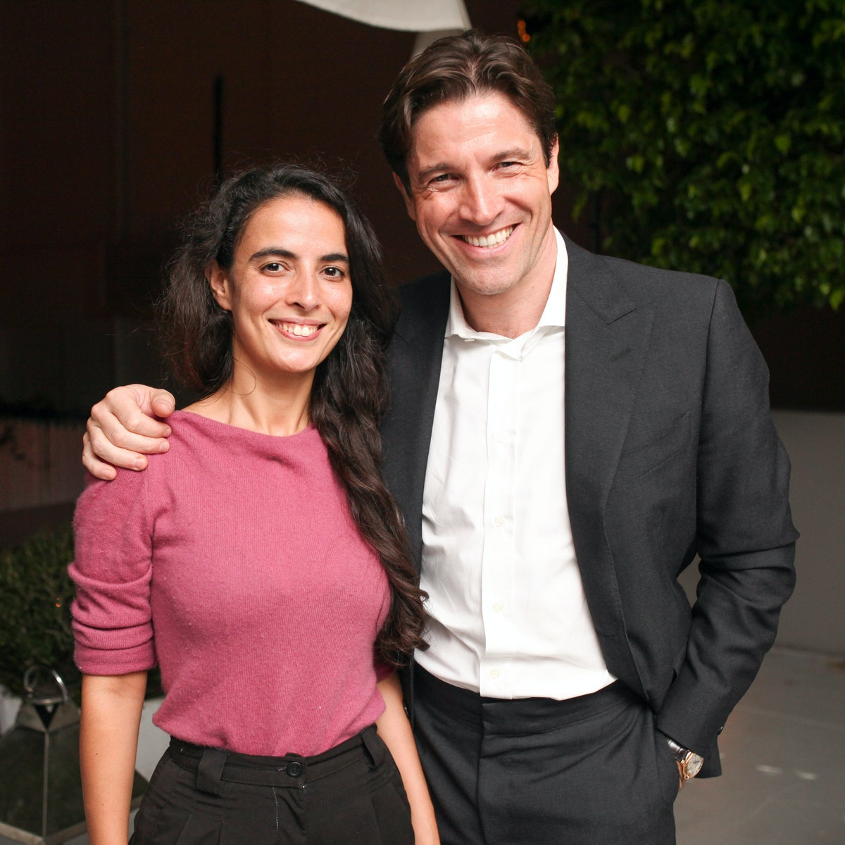 Frederic de Narp and Anissa Touati attend the Triangle Walks by BALLY party