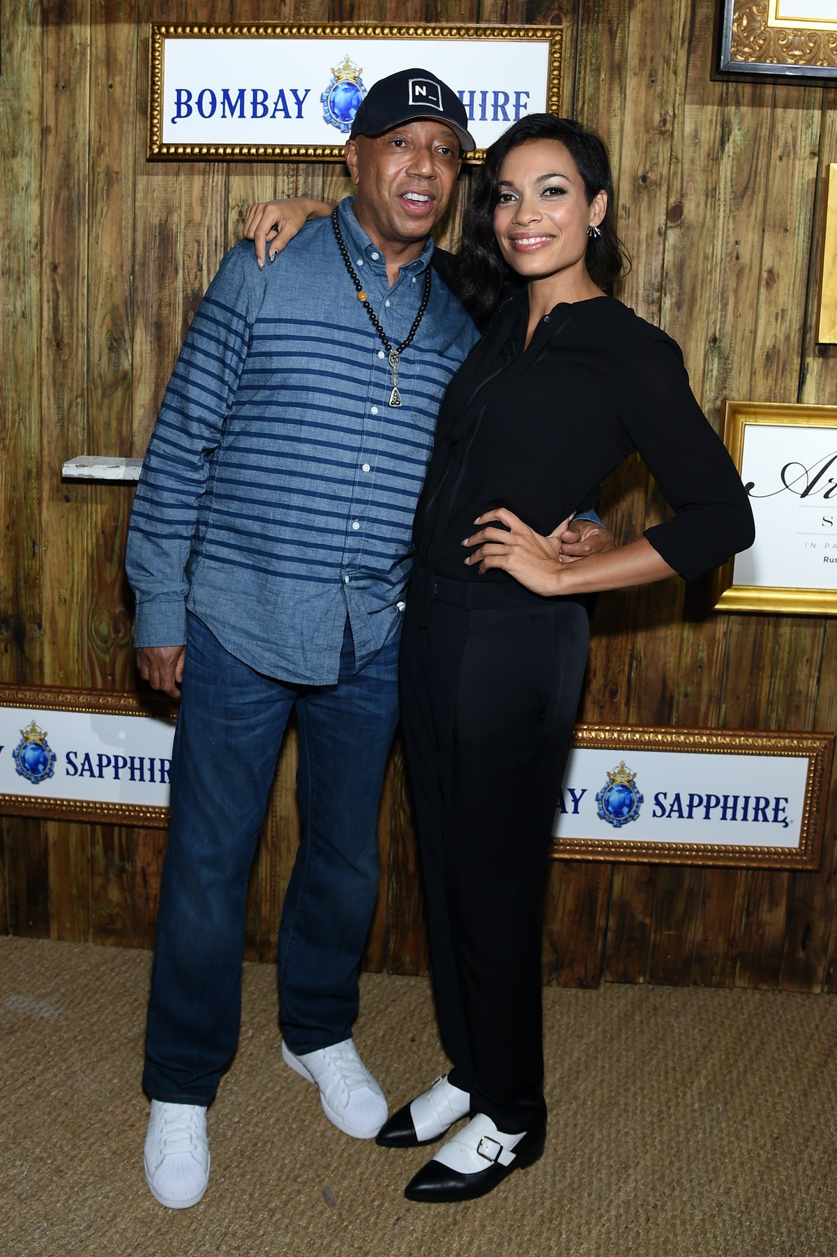 Russell Simmons and Rosario Dawson attend the 5th Annual Bombay Sapphire Artisan Series Finale at th...