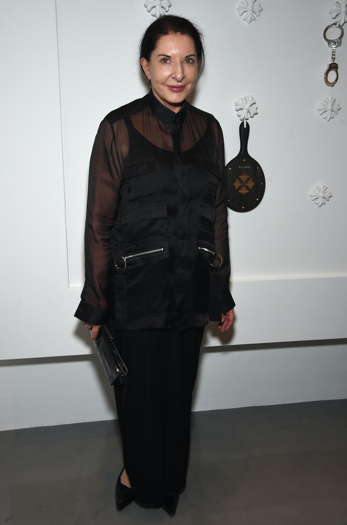 Marina Abramovic attends Chrome Hearts' celebration of The Miami Project