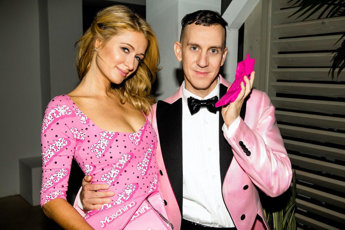 Paris Hilton and Jeremy Scott attend the Jeremy Scott and Moschino Art Basel party
