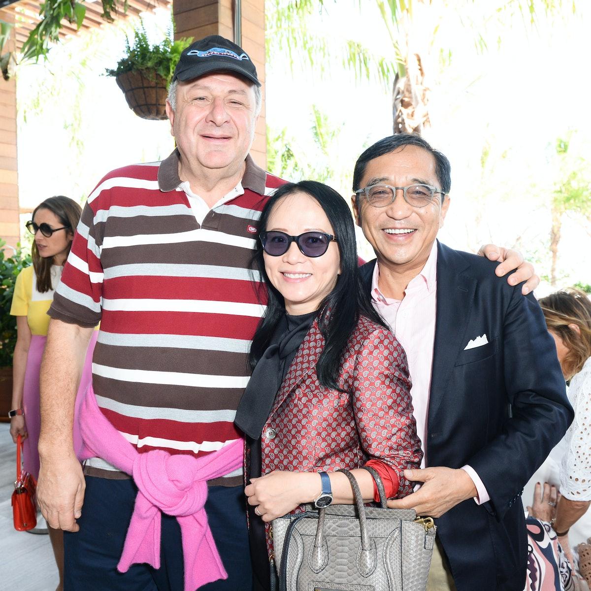 Jean Pigozzi, Silas Chou, and guest