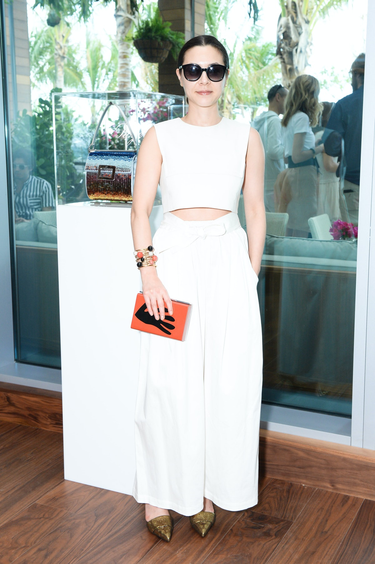 China Chow attends the Roger Vivier party in celebration of Miss Viv l'ArcoBaleno