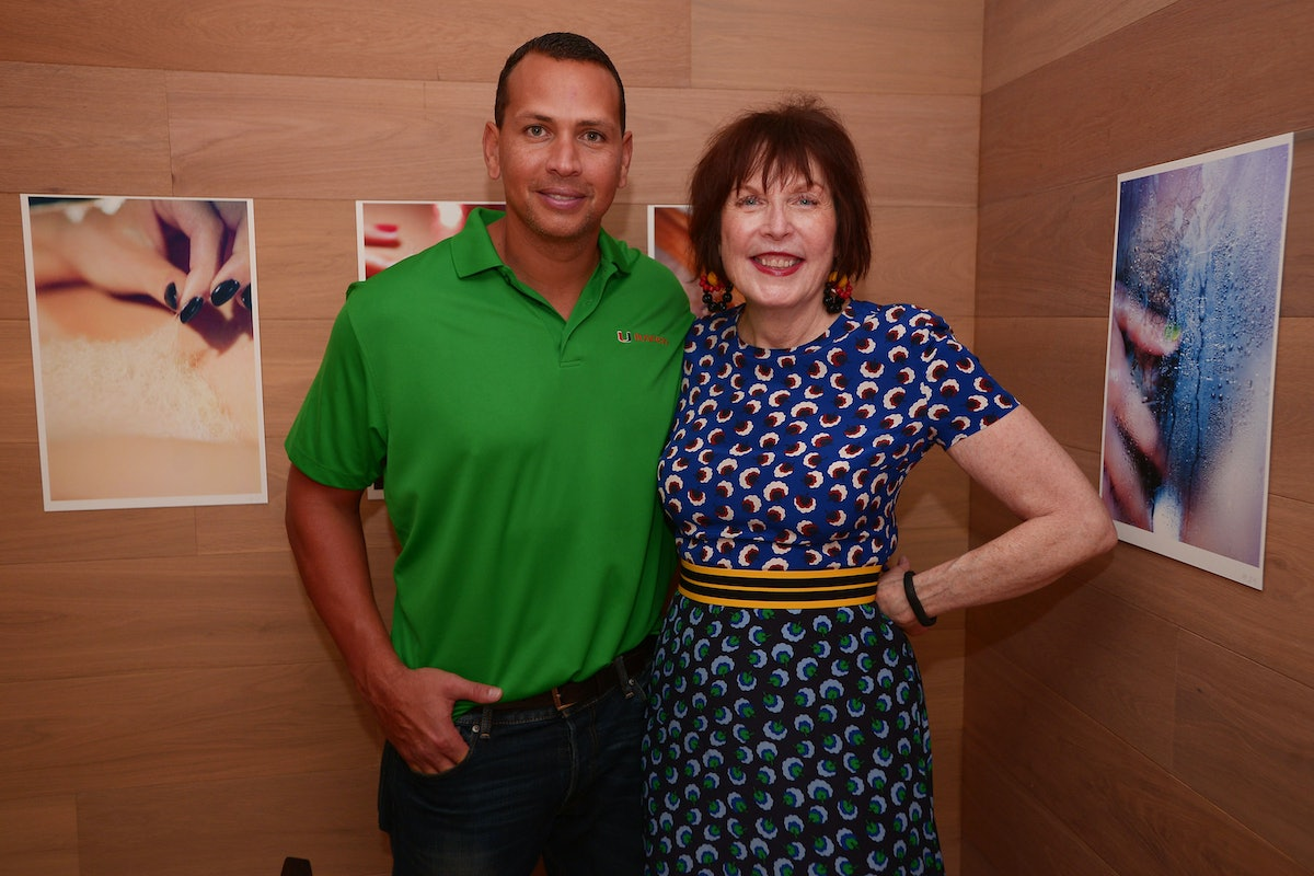 Alex Rodriguez and Marilyn Minter attend Minter's book release