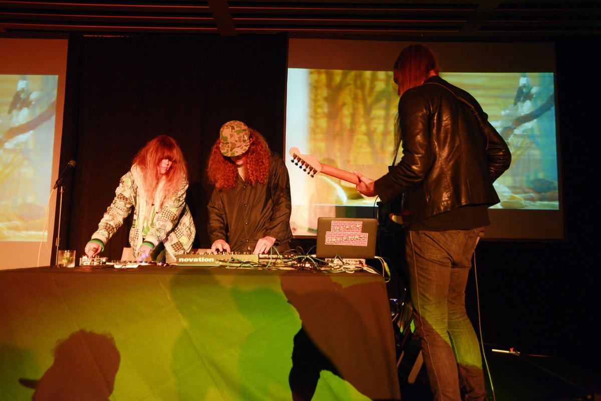 """Jonah Freeman and Justin Lowe's performance piece """"Shadow Pool, A Natural History of the San San Int..."""