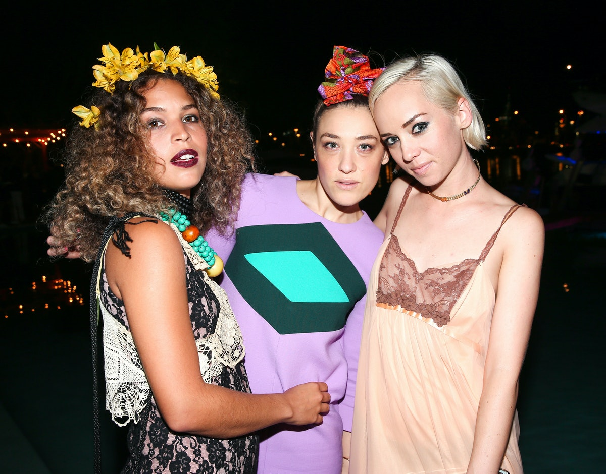Cleo Wade, Mia Moretti, and Margot attend the PPP Muzik Mansion party