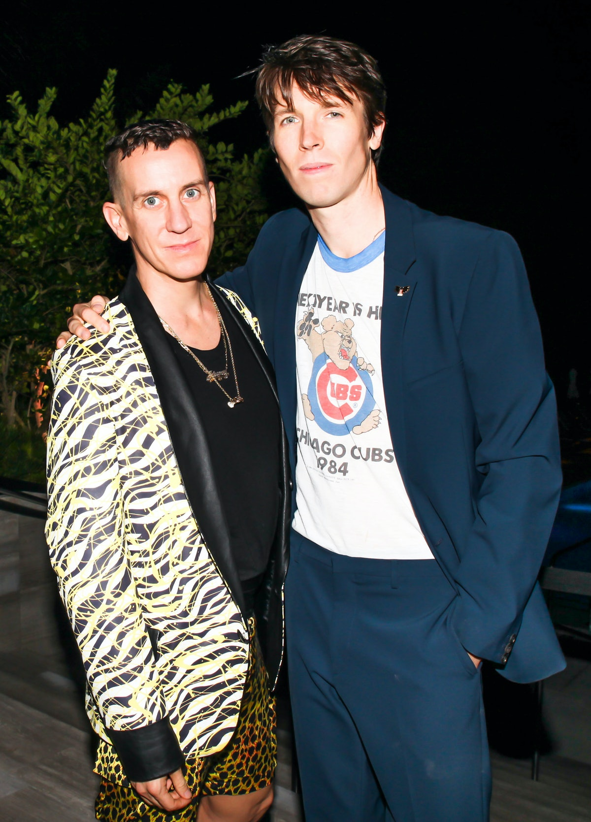 Jeremy Scott and Ryan McGinley attend the ACRIA and Paddle8 dinner in honor of Ryan McGinley