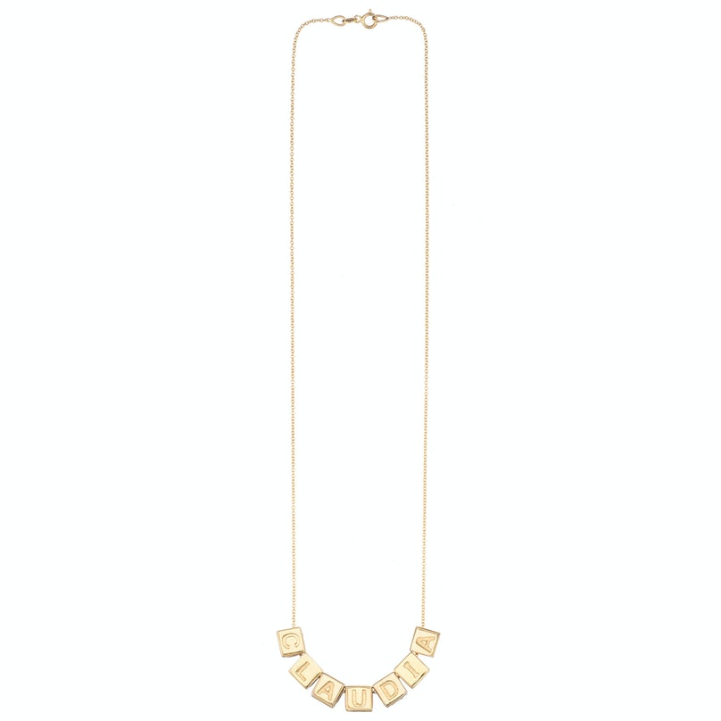 Le Bloc custom chain necklace in yellow gold