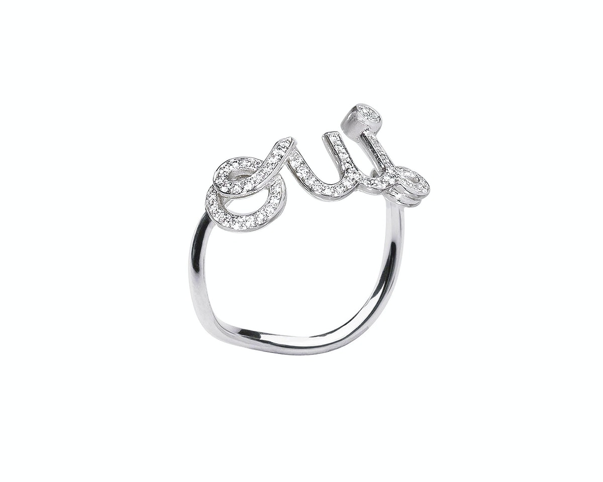 Dior Fine Jewelry Oui Ring in white gold and diamond