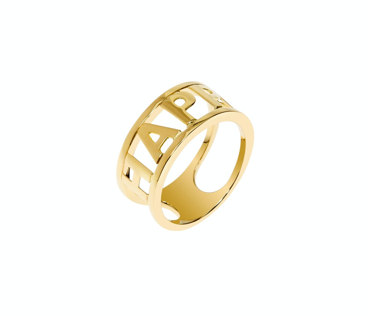 """Spallanzani """"Only You"""" ring in yellow gold"""