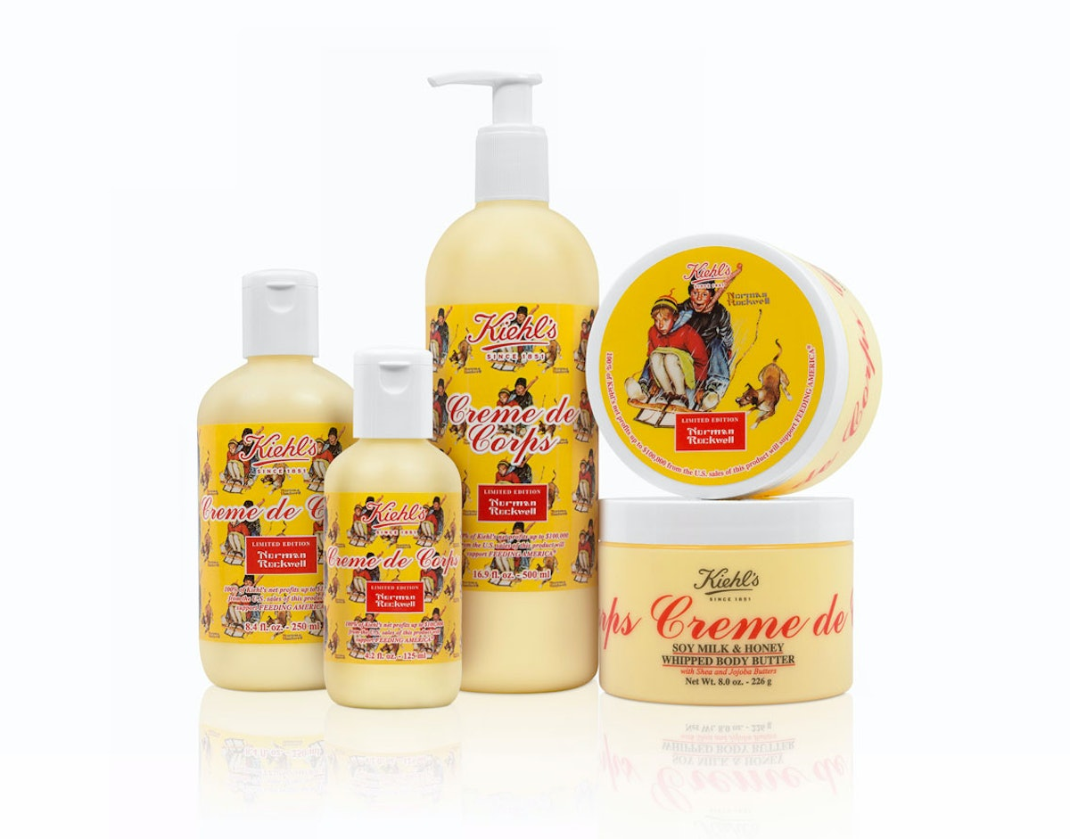 Kiehl's Norman Rockwell Crème de Corps Classic Formula and Soy Milk & Honey Whipped Body Butter