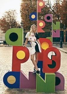 Anna Ewers in Paris