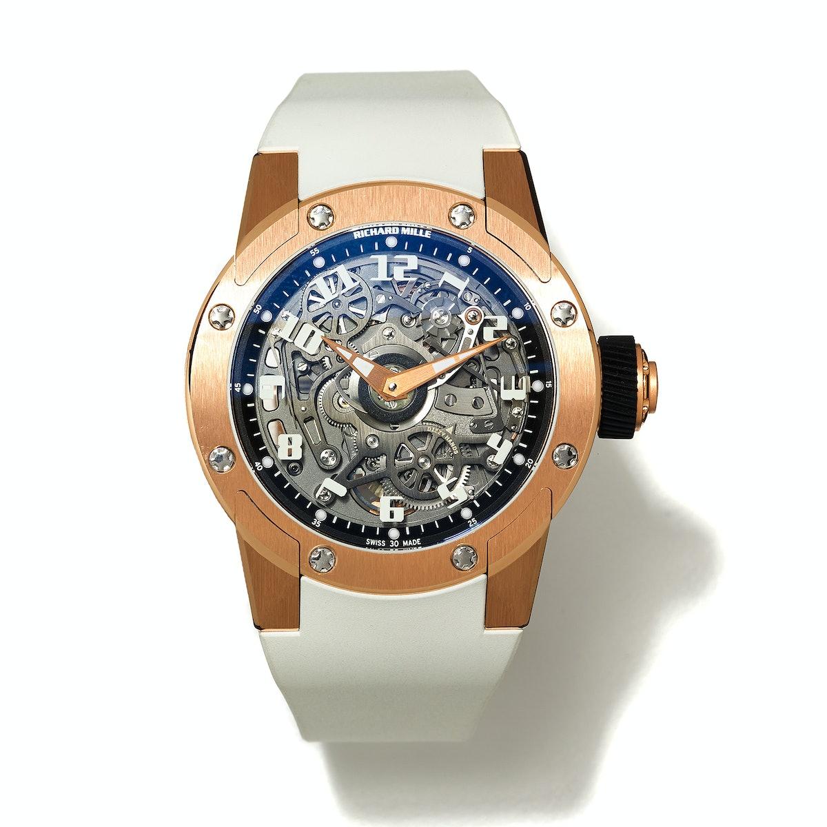 Richard Mille gold and titanium watch