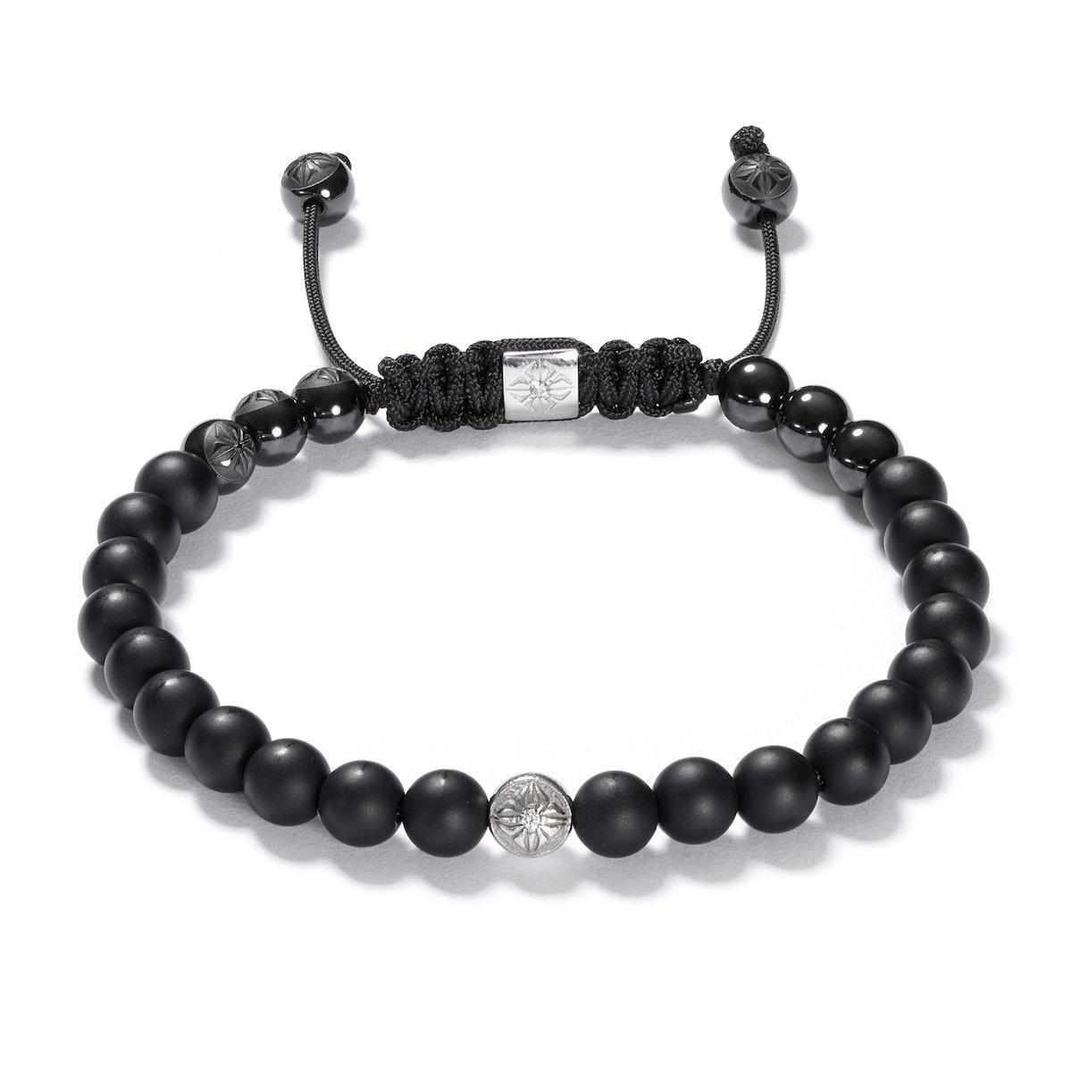 Shamballa Jewels gold, onyx, and diamond bracelet