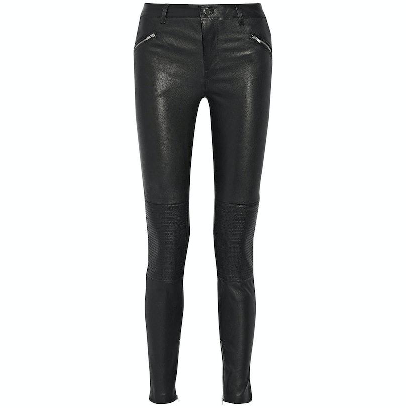 Blk Denim leather pants