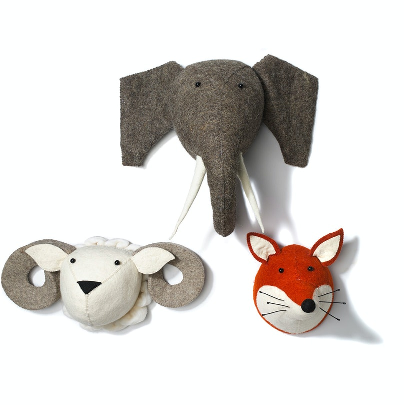 Serena & Lily animal heads wall décor,