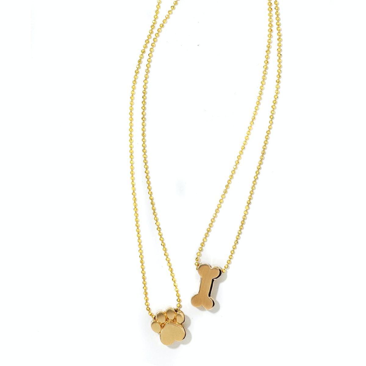 Alex Woo paw necklace