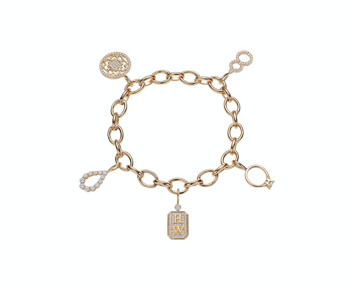 Harry Winston 18k yellow gold and diamond bracelet