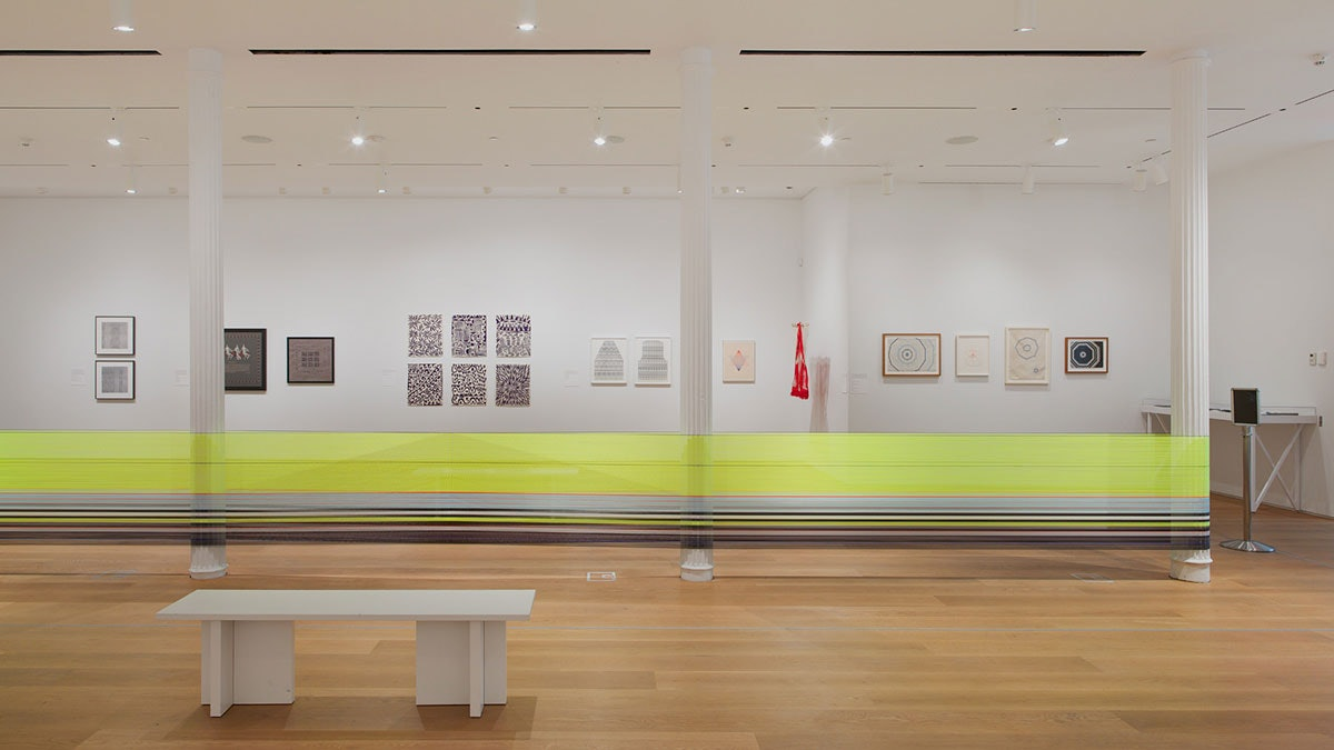 Installation view of Thread Lines at The Drawing Center