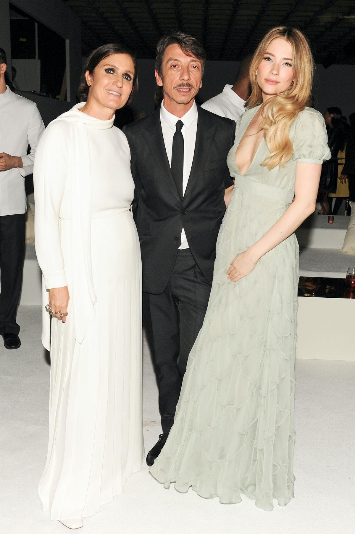 Maria Grazia Chiuri, Pierpaolo Piccioli, and Haley Bennett