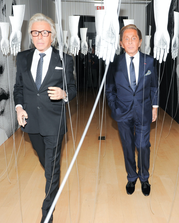 Giancarlo Giammetti and Valentino Garavani