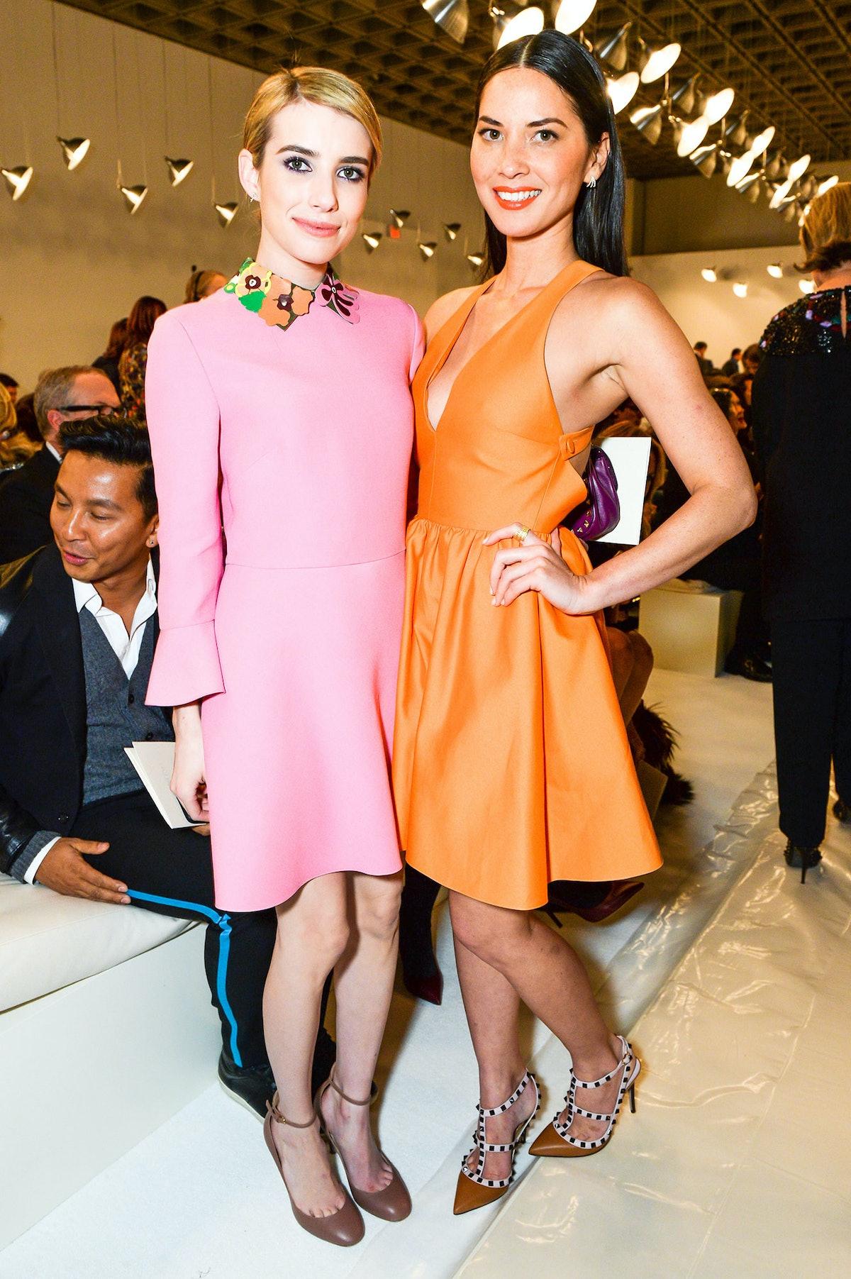 Emma Roberts and Olivia Munn