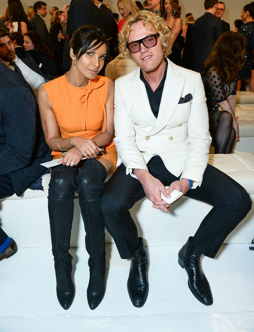 Padma Lakshmi and Peter Dundas