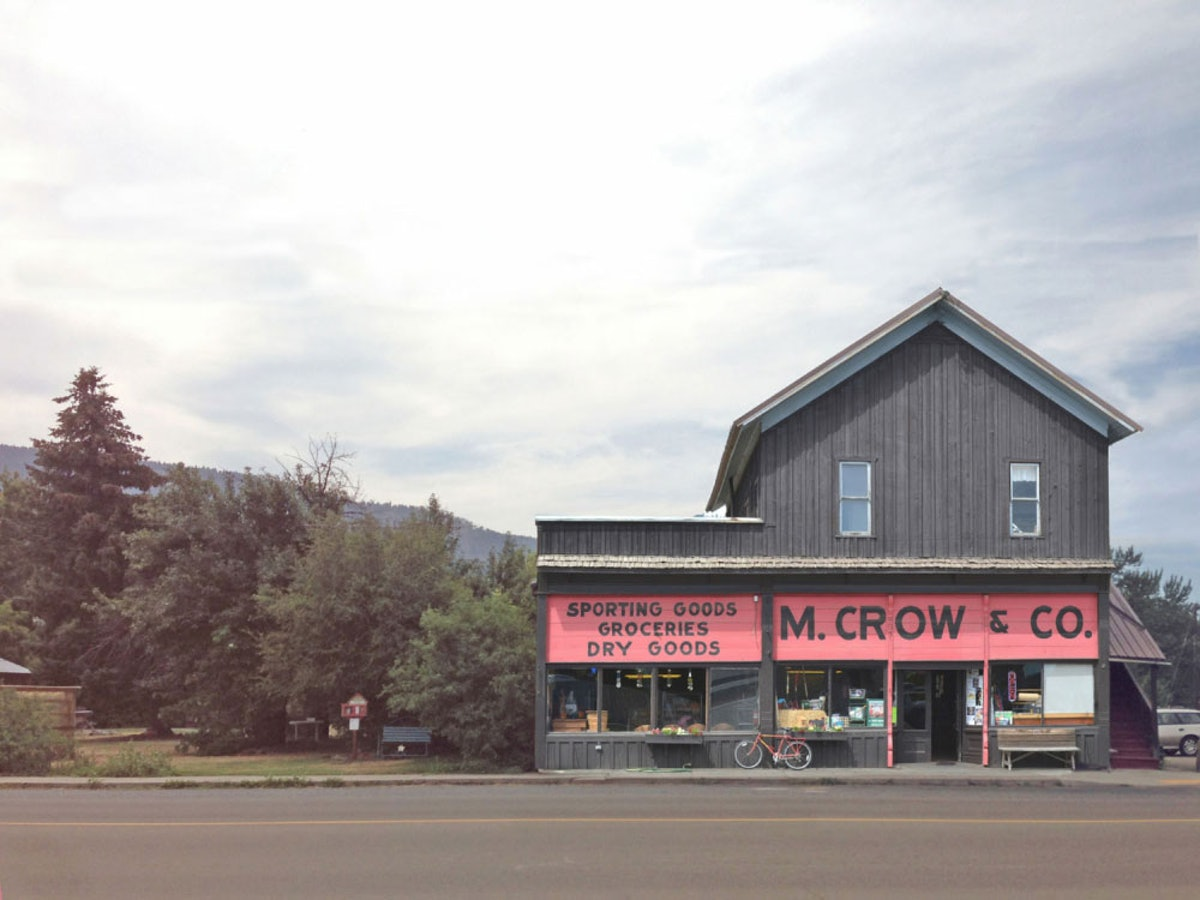 The M. Crow store in Lostine, Oregon