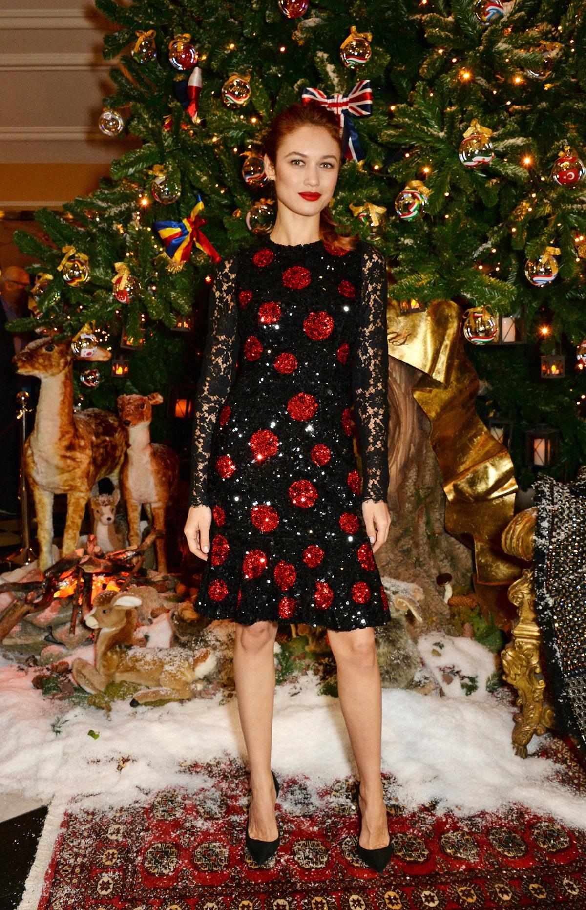 Olga Kurylenko in Dolce and Gabbana