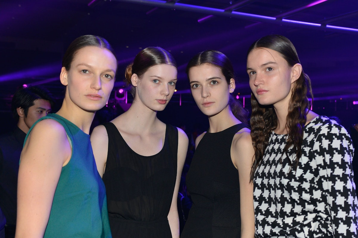 Dior models at the after-party