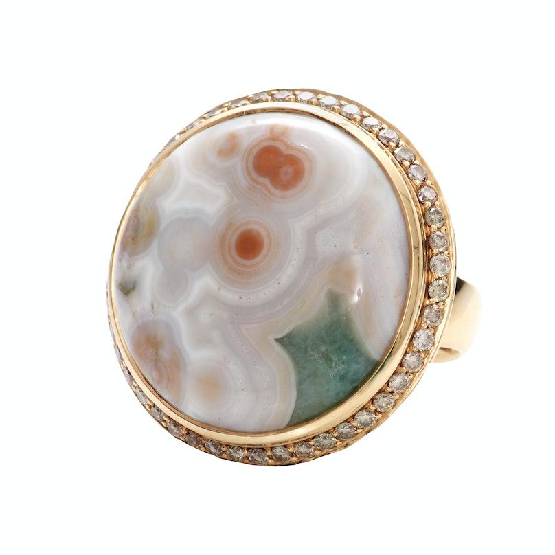 Tamara Comolli gold and diamond ring,