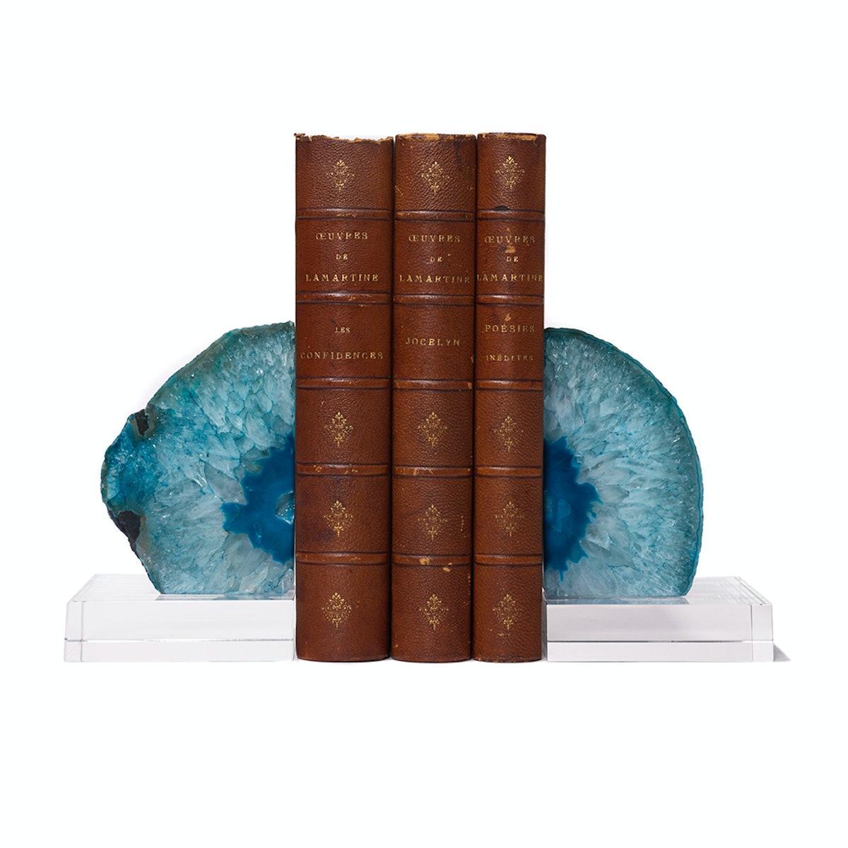 Juniper Books antique leather books