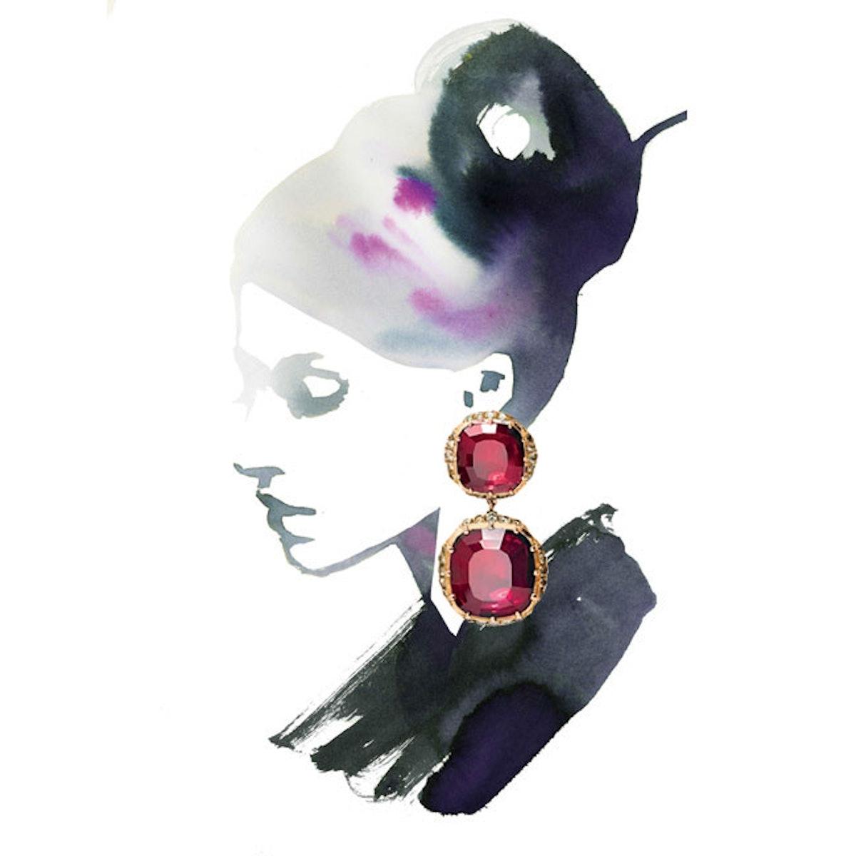 Larkspur & Hawk garnet earrings