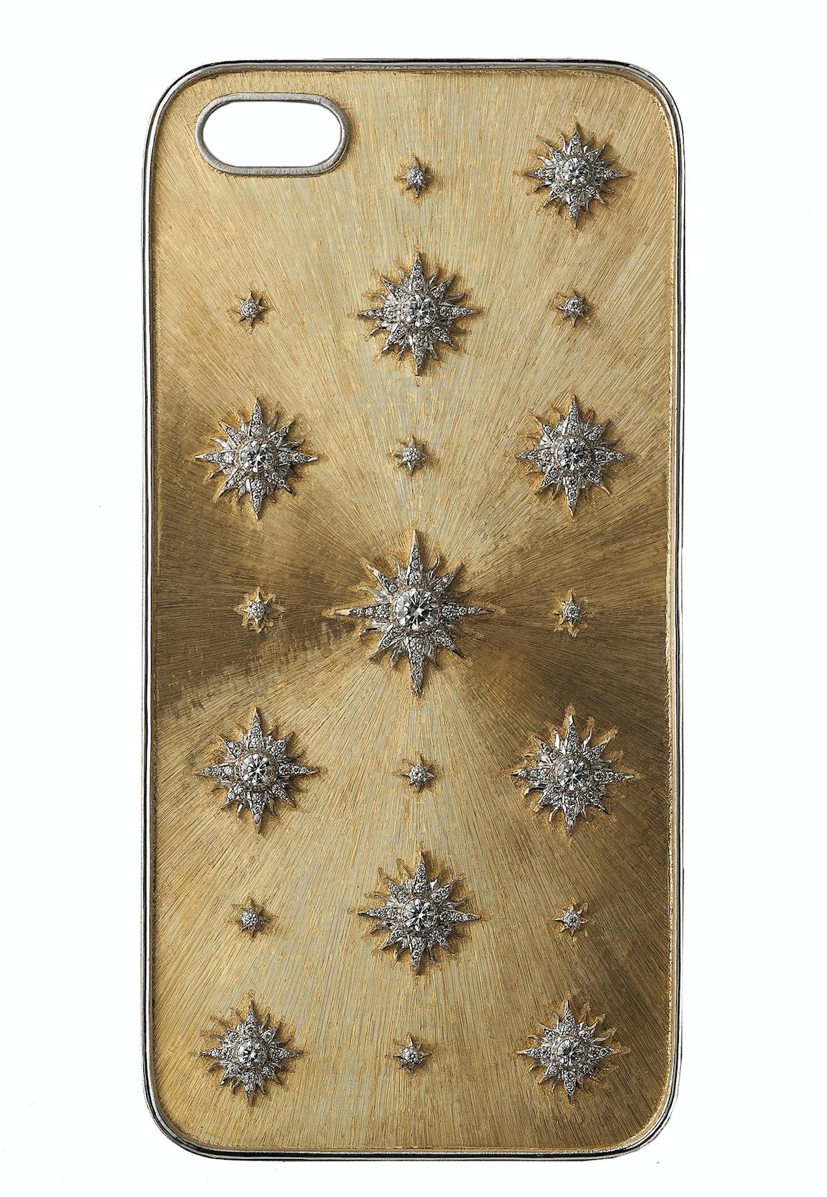 Buccellati 18k gold phone case,