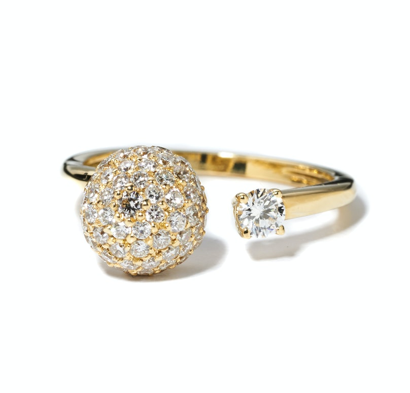 Simon G. Jewelry gold and diamond ring