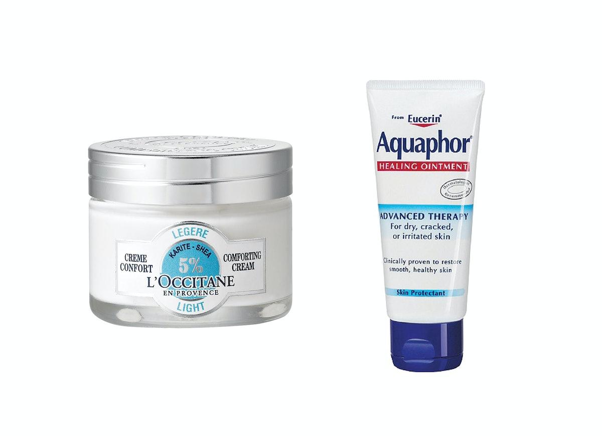 L'Occitane Shea Comforting Cream and Aquaphor