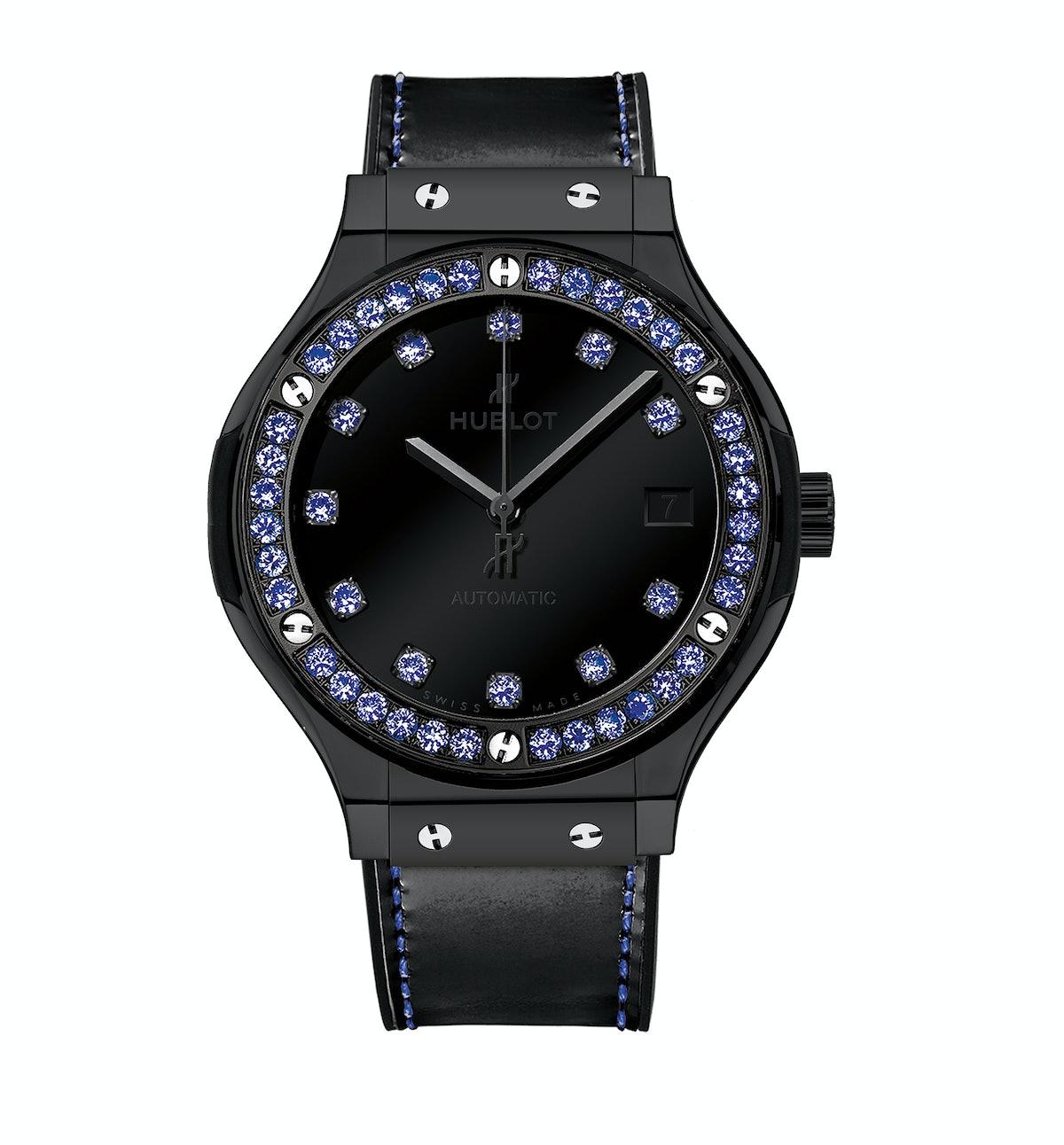 Hublot ceramic and sapphire watch