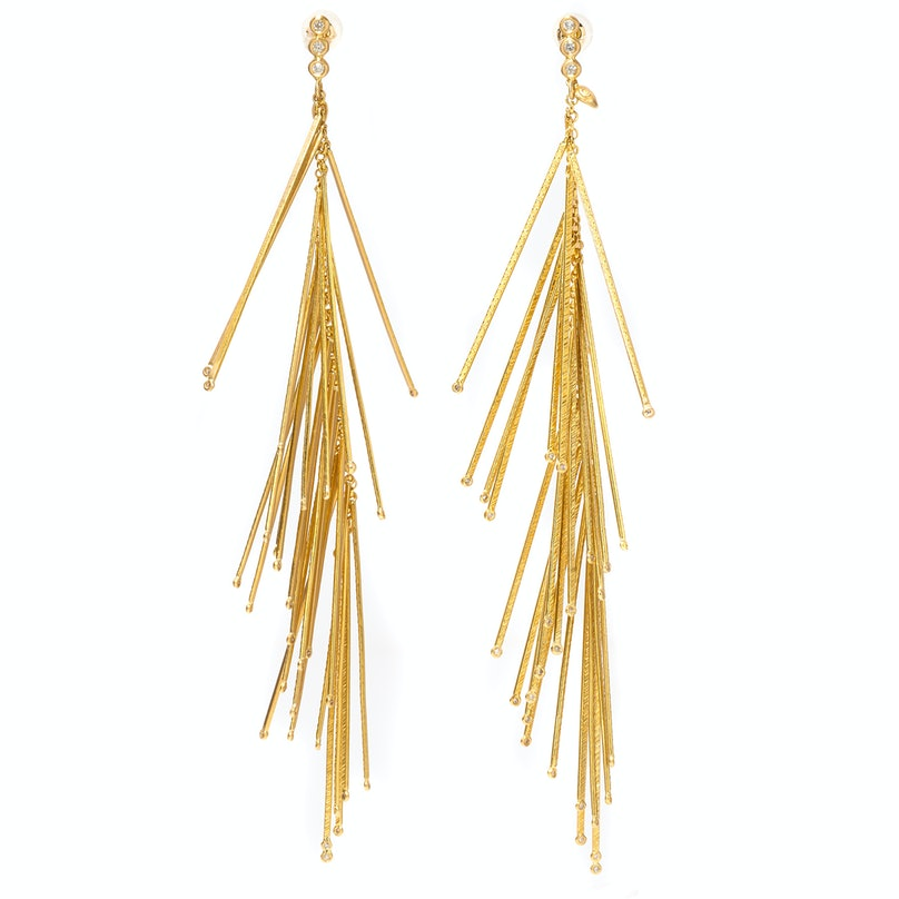 Coomi gold and diamond earrings