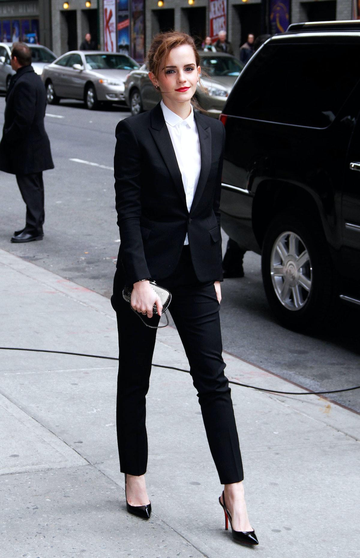 Emma Watson in Saint Laurent