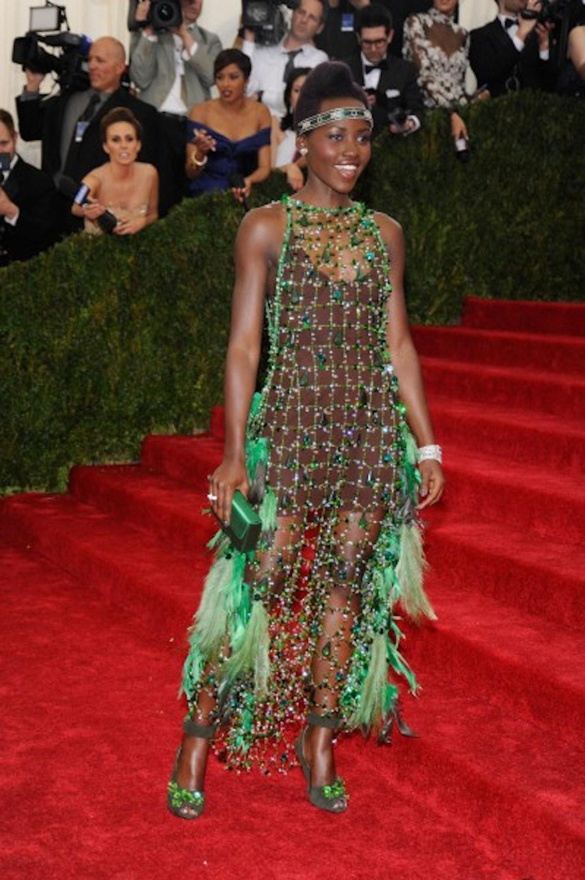 Lupita Nyong'o in custom Prada
