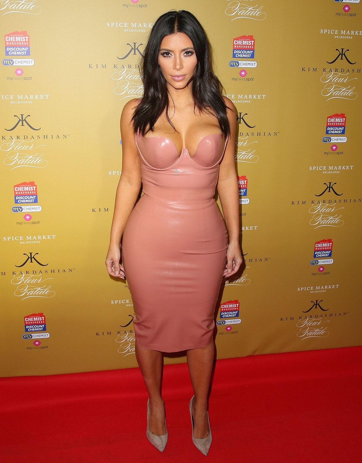 Kim Kardashian in Latex
