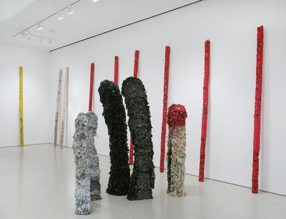 """Installation view of """"Helmut Lang"""" at Sperone Westwater"""