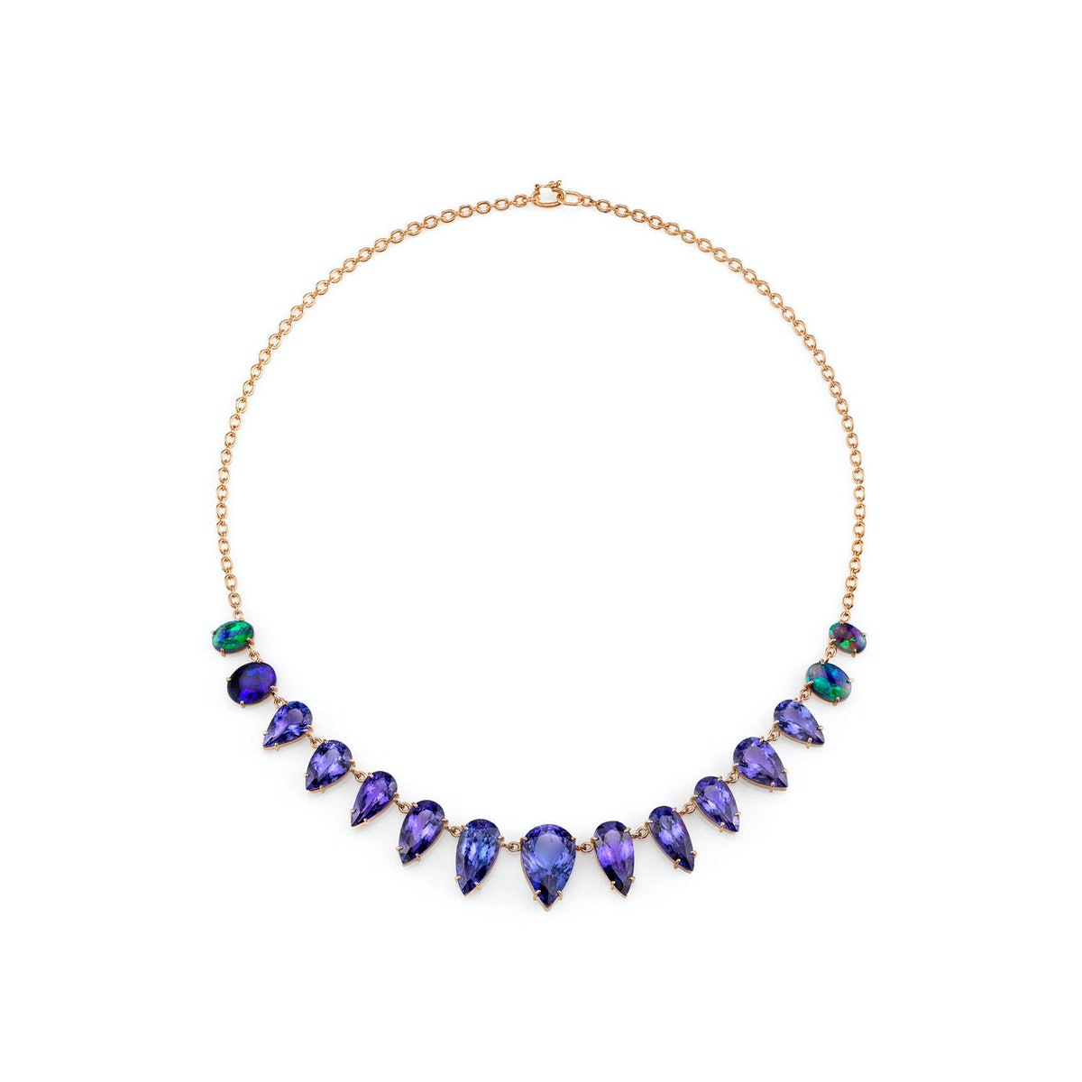 Irene Neuwirth tanzanite and opal necklace
