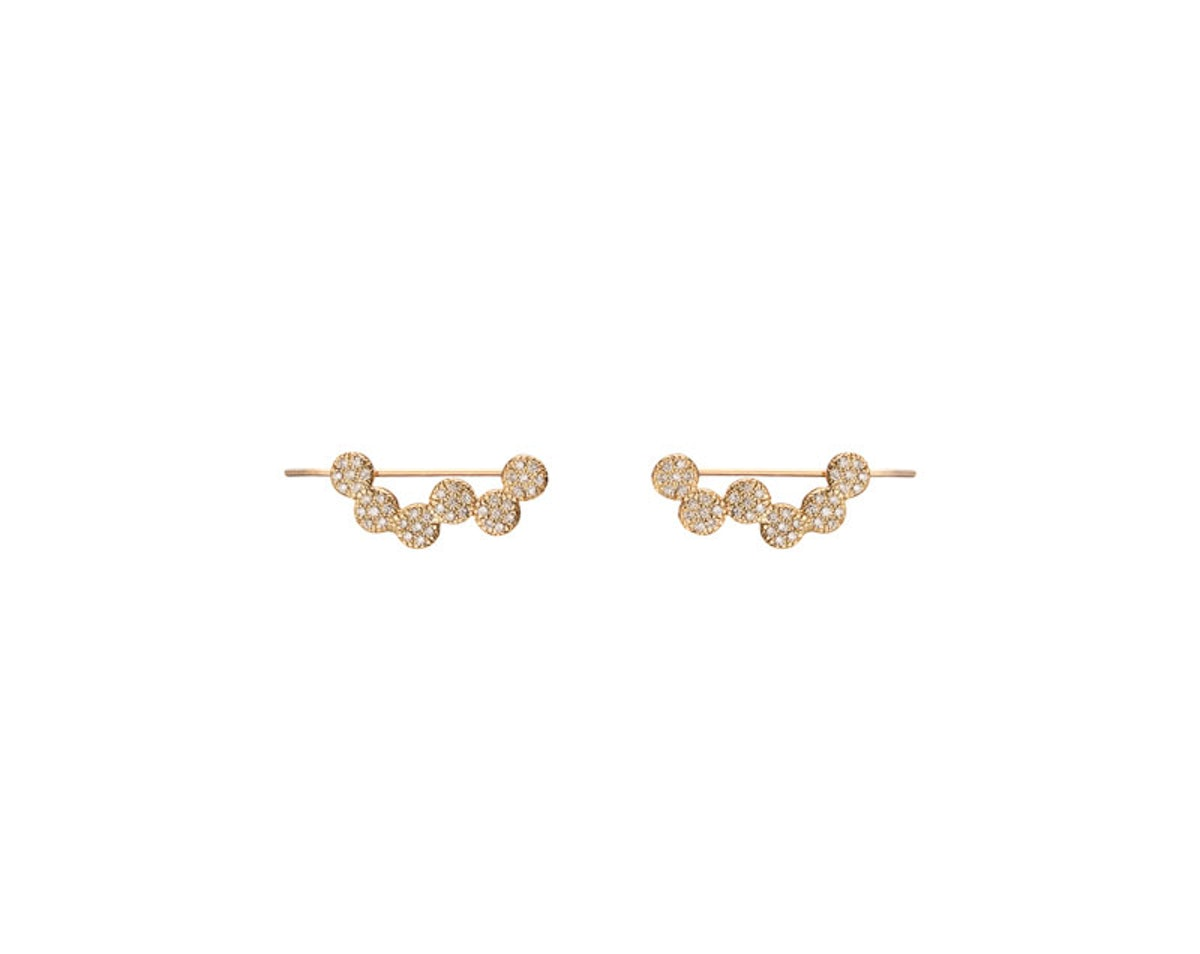 Jennifer Fisher 14k gold and diamond earrings