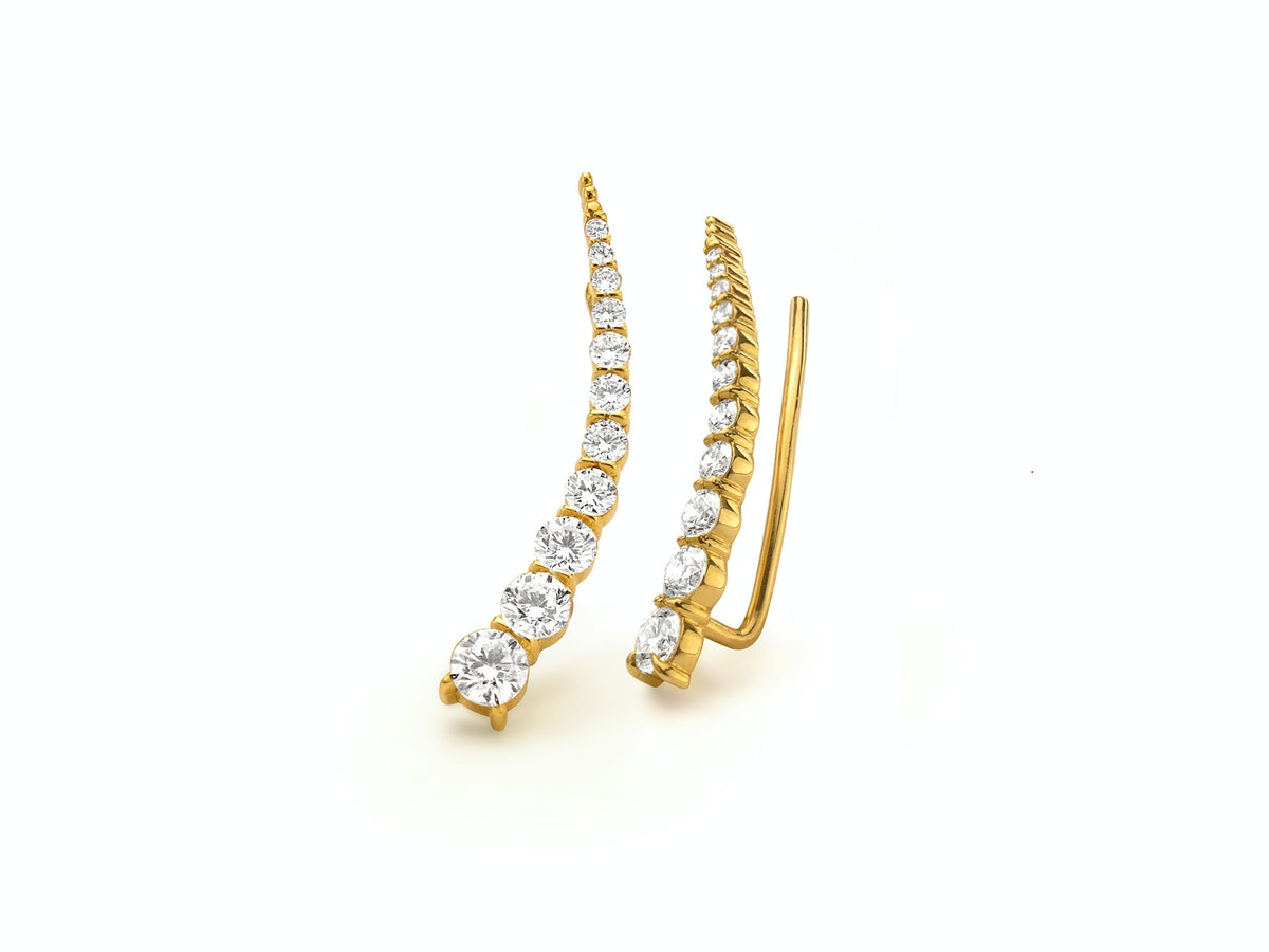 Forevermark by Jade Trau 18k yellow gold and diamond earrings