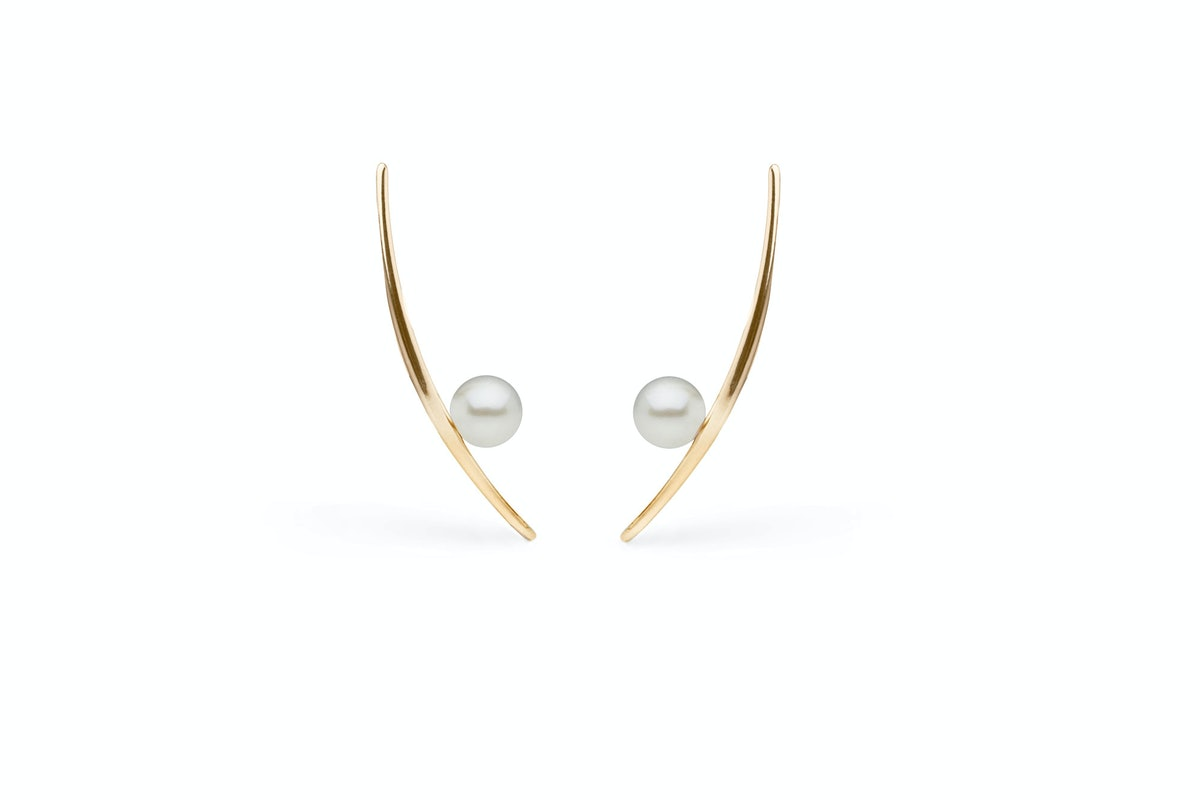 Veronika Borchers for Pearl Collective 14k gold and pearl earrings